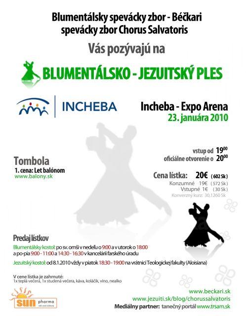 ples v Inchebe 2010 plagát - Blumentálsko-Jezuitský ples, plagát, viac informácií o plese nájdete na stránke plesu.