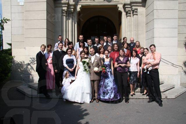 Spoločná svadobná foto - svadba Peťa s Mary