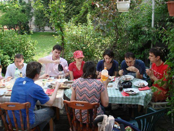 Výdatný sobotný obed - polievočka, jaterničky, klobásky