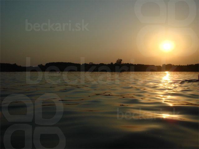 západ slnka - nad Čunovským jazerom