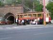 1.zastávka - spoločná foto pred tunelom