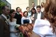 Gratulácia novomanželom - Béčkari gratulujú