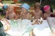 Grilované kuriatka - Miško, Kubko, Lenka a Adelka