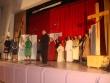 Poďakovanie p. Farára - koniec divadelného predstavenia a pozvanie na agapé