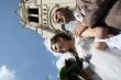 S kostolnou vežou - Mladomanželia