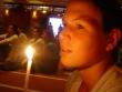Speváčka pri obrade svetla - Obrad svetla pri sviečkach v sobotu večer