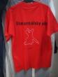 tričko blumentálsky ples - Gabika nakreslila na ples tričko s nápisom Blumentálsky ples, 21.2.2009 a logom dvoch tanečníkov