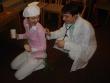 Vstupné prehliadky - pán doktor mal pod kontrolou zdravotný stav plesajúcich